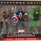 MARVEL LEGENDS TARGET EXCLUSIVE 3 PACK MS MARVEL CAPTAIN AMERICA RADIOACTIVE MAN ACTION FIGURE SET