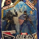 MARVEL LEGENDS TOYS R US EXCLUSIVE ULTIMATE NICK FURY & CAPTAIN AMERICA ACTION FIGURE 2 PACK HASBRO