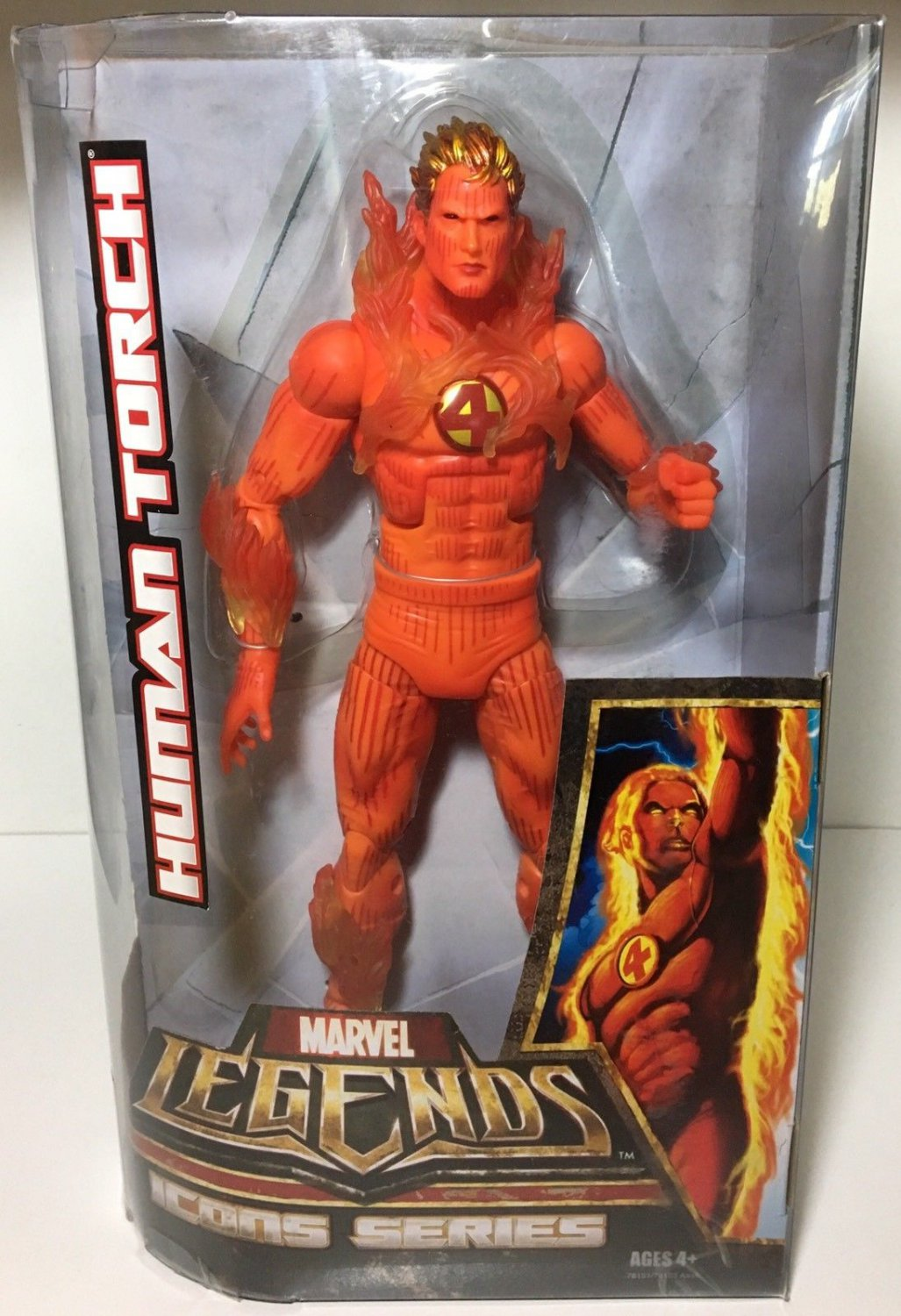 Marvel Legends Icons Series Human Torch Flame On 12 Inch