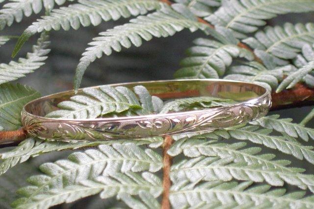 14kt Gold Hawaiian Heirloom Bracelet 6mm sz 7.5