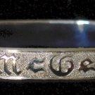 Silver Traditional Hawaiian Heirloom Bracelet 6mm sz 7.75