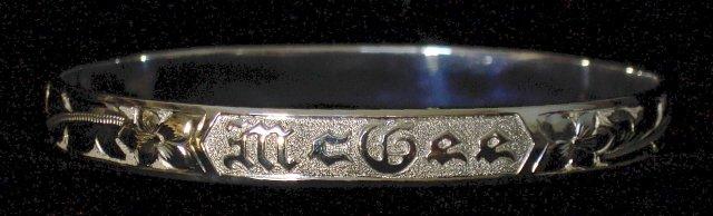 Silver Traditional Hawaiian Heirloom Bracelet 6mm sz 8.50