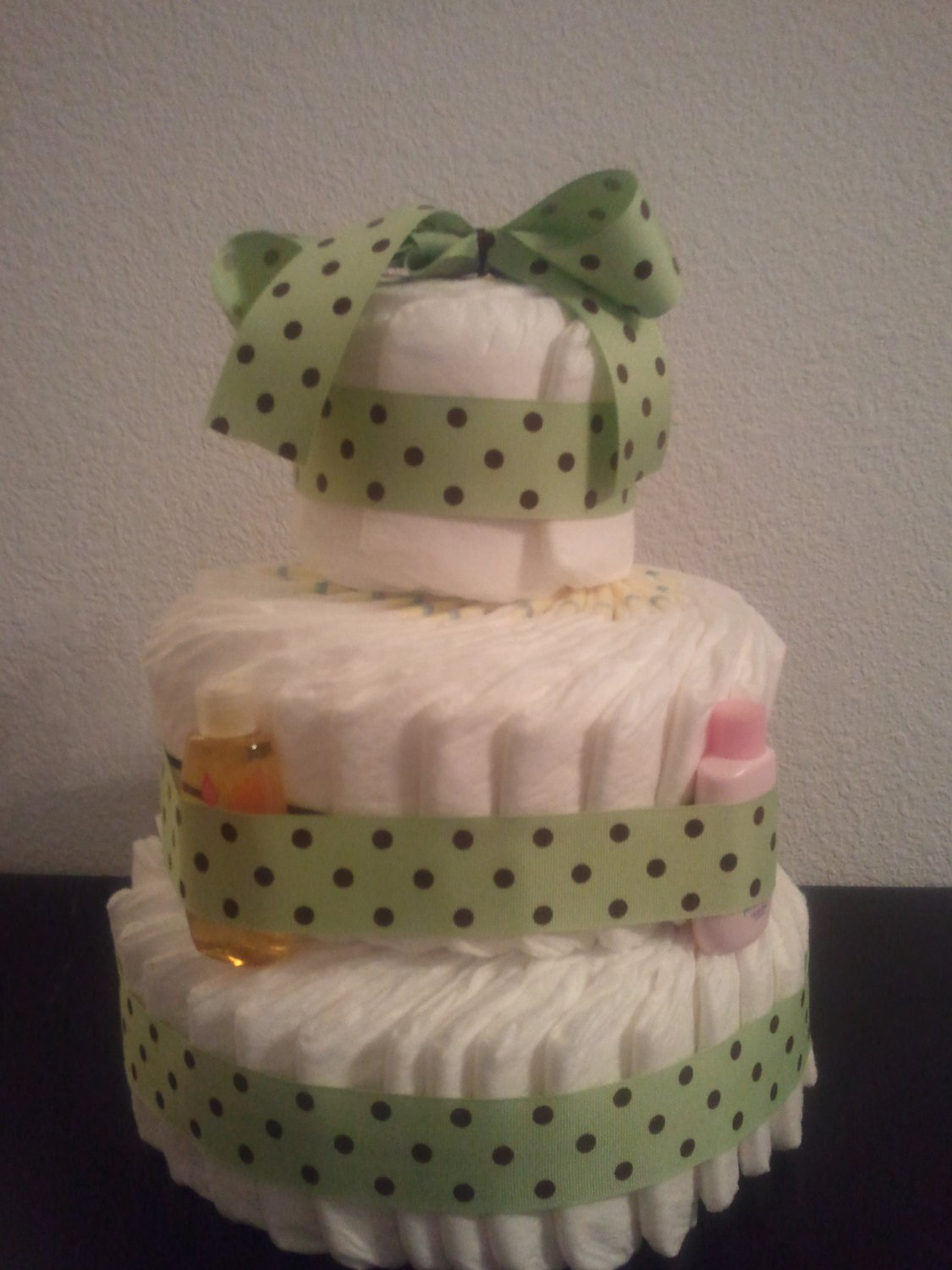 Green and Brown Diaper Cake - Neutral