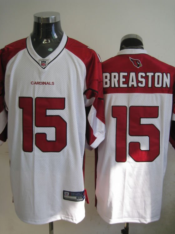 Arizona Cardinals # 15 Breaston NFL Jersey White