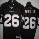 Arizona Cardinals # 26 Wells NFL Jersey Black