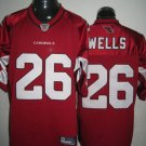 Arizona Cardinals # 26 Wells NFL Jersey Red