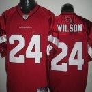 Arizona Cardinals # 24 Wilson NFL Jersey Red