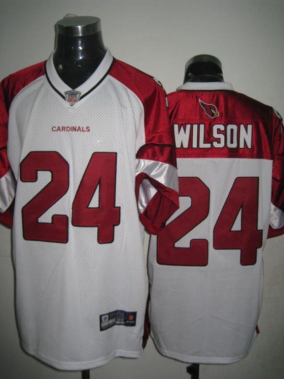 Arizona Cardinals # 24 Wilson NFL Jersey White