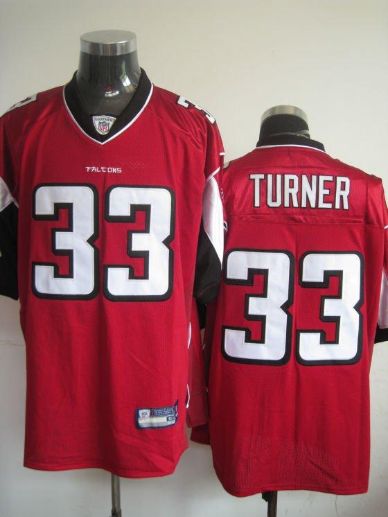 Atlanta Falcons # 33 Turner NFL Jersey Red