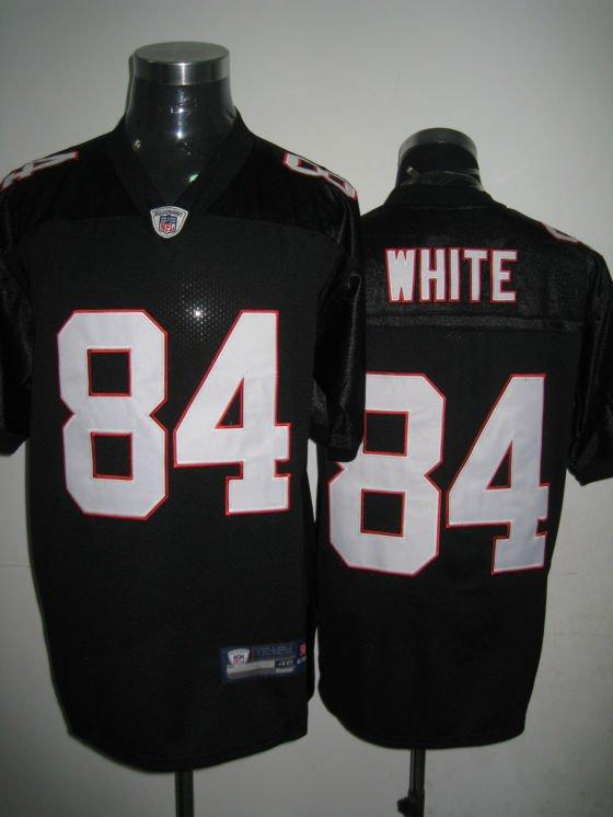 Atlanta Falcons # 84 White NFL Jersey Black