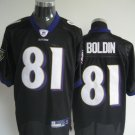 Baltimore Ravens # 81 Boldin NFL Jersey Black