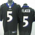 Baltimore Ravens # 5 Flacco NFL Jersey Black