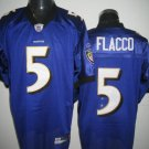Baltimore Ravens # 5 Flacco NFL Jersey Purple