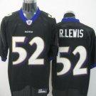 Baltimore Ravens # 52 Lewis NFL Jersey Black