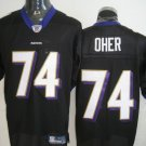 Baltimore Ravens # 74 Oher NFL Jersey Black