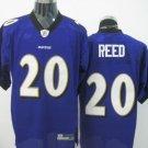 Baltimore Ravens # 20 Reed NFL Jersey Purple