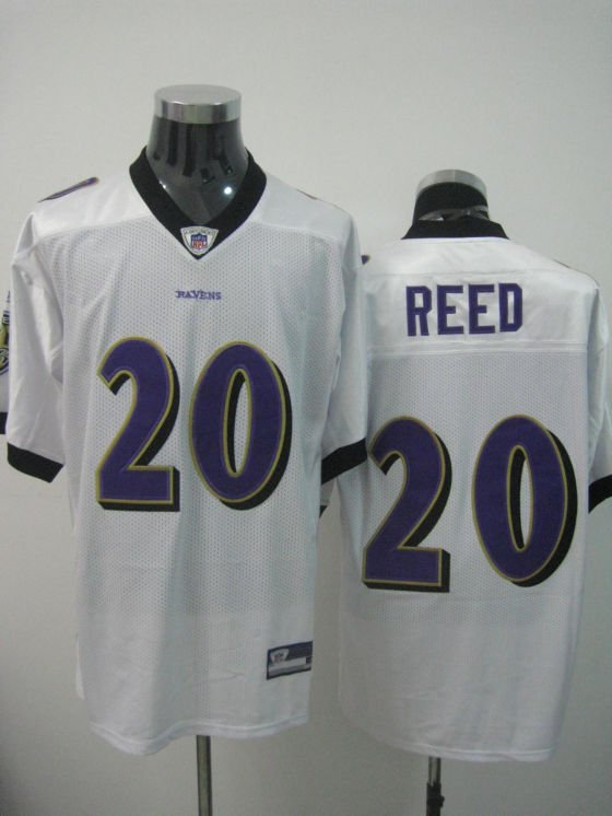Baltimore Ravens # 20 Reed NFL Jersey White