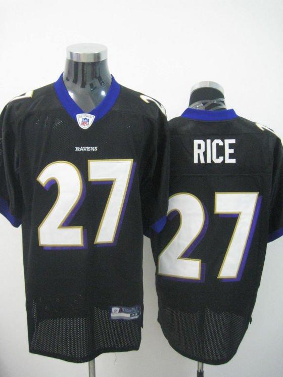 Baltimore Ravens # 27 Rice NFL Jersey Black