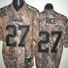 Baltimore Ravens # 27 Rice NFL Jersey Camo