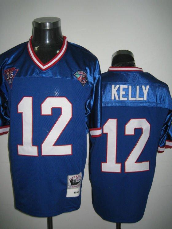 Buffalo Bills # 12 Kelly NFL Jersey Blue