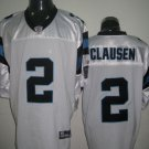 Carolina Panthers # 2 Clausen NFL Jersey White