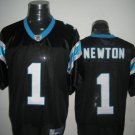 Carolina Panthers # 1  Newton NFL Jersey Black