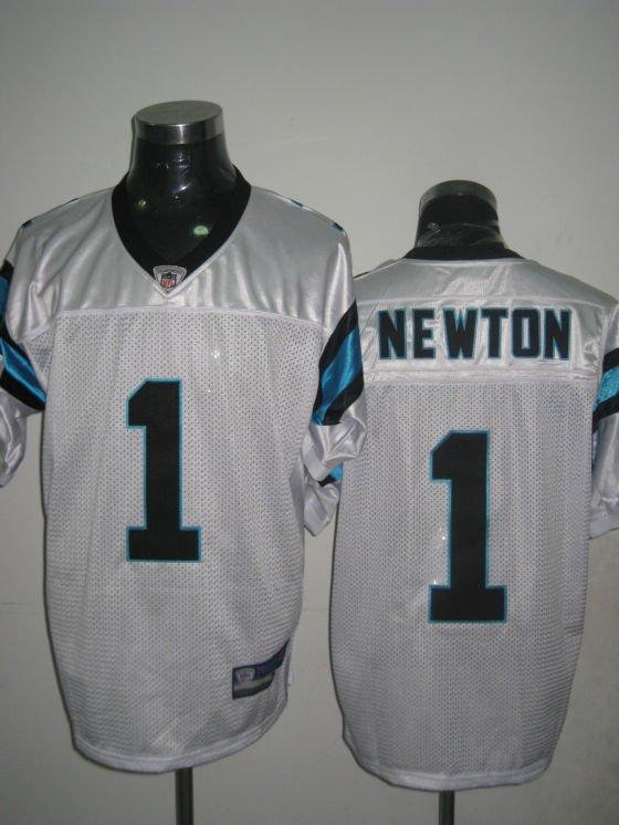 Carolina Panthers # 1  Newton NFL Jersey White