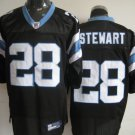Carolina Panthers # 28 Stewart NFL Jersey Black