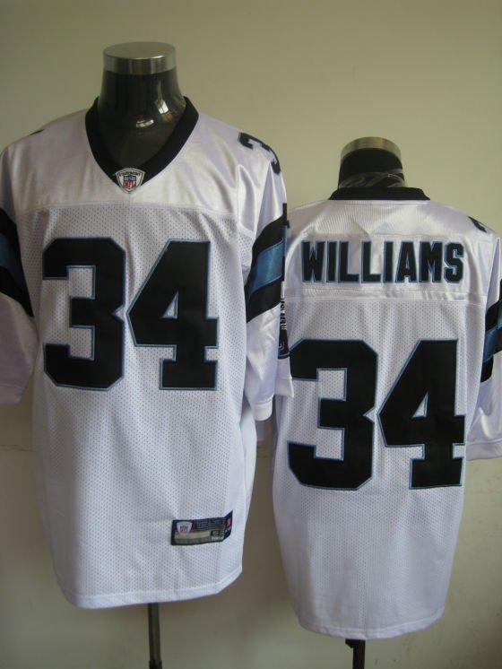 Carolina Panthers # 34 Willliams NFL Jersey White