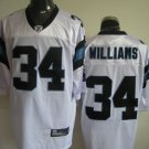 Carolina Panthers # 34 Willliams NFL Jersey White