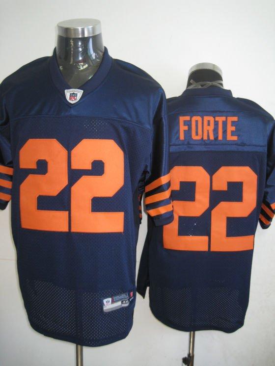 Chicago Bears # 22 Forte NFL Jersey Blue Orange