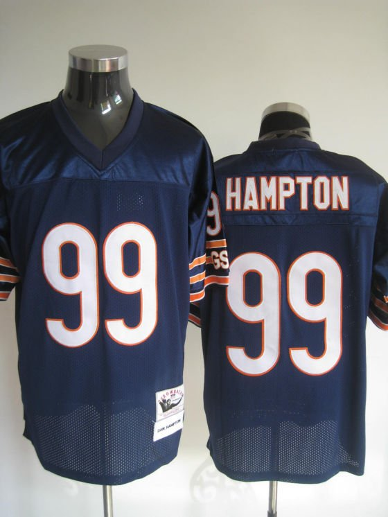 Chicago Bears # 99 Hampton NFL Jersey Blue