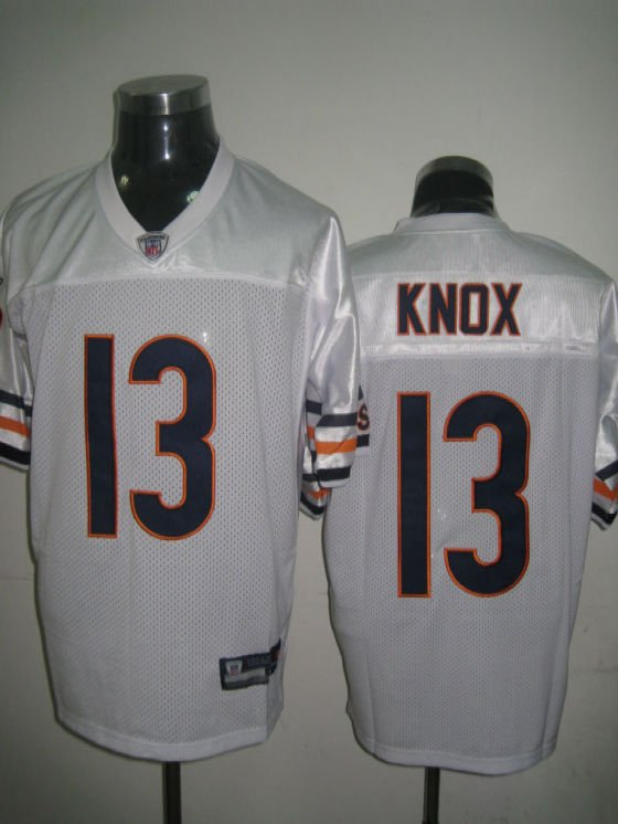 Chicago Bears # 13 Knox NFL Jersey White
