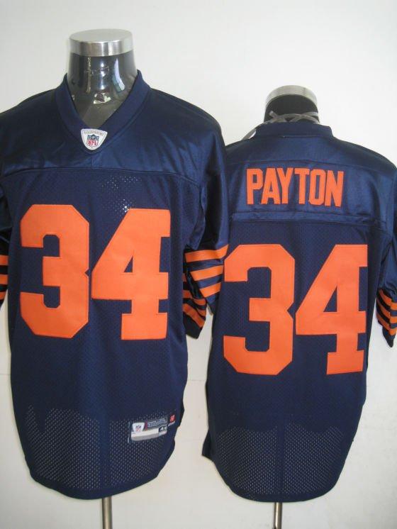 Chicago Bears # 34 Payton NFL Jersey Blue Orange