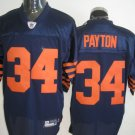 Chicago Bears # 34 Payton NFL Jersey Blue Orange