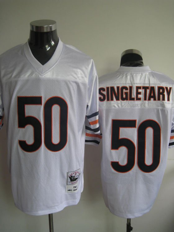 Chicago Bears # 50 Singletary NFL Jersey White