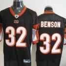 Cincinnati Bengals # 32 Benson NFL Jersey Black