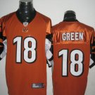 Cincinnati Bengals # 18 Green NFL Jersey Orange