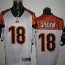 Cincinnati Bengals # 18 Green NFL Jersey White