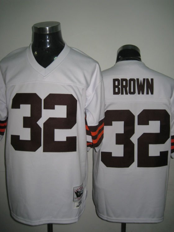 Cleveland Browns # 32 Brown NFL Jersey White
