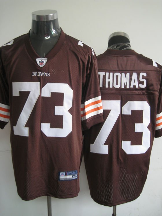 Cleveland Browns # 73 Thomas NFL Jersey Brown