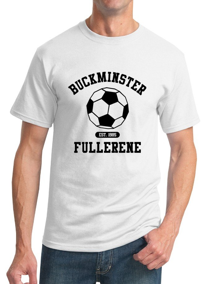 Chemistry T-Shirt - Size S - Unisex White - Buckminsterfullerene (Doublesided)