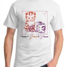 Physics T-Shirt - Size L - Unisex White - Schrodinger's Cat (Hot Version)