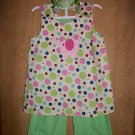 Girls capri/pants set 4t-8yrs with matching bow