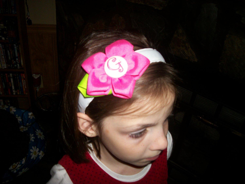 boutique hair bow flower headband