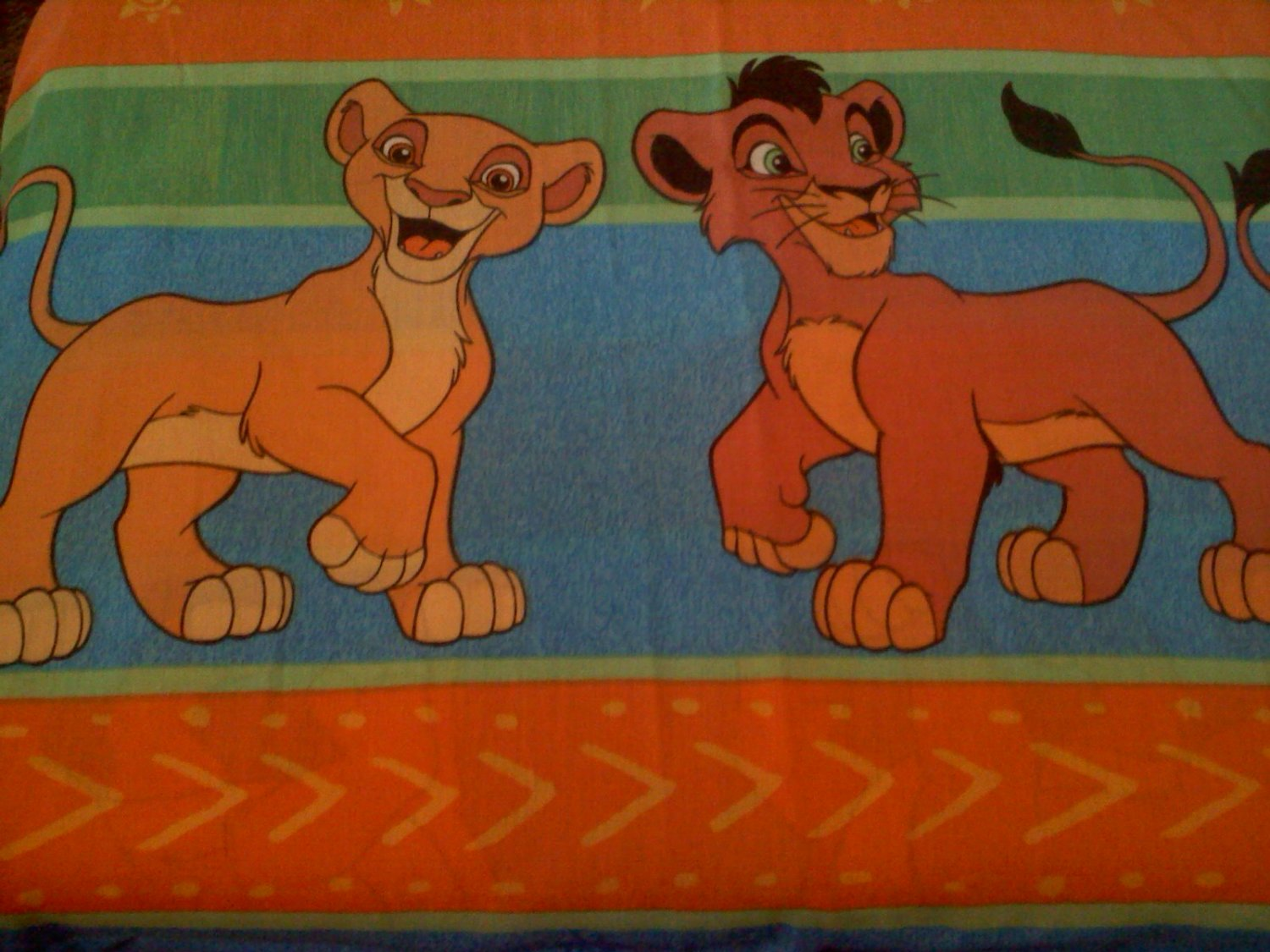 Vintage Twin Flat Sheet with Lion King