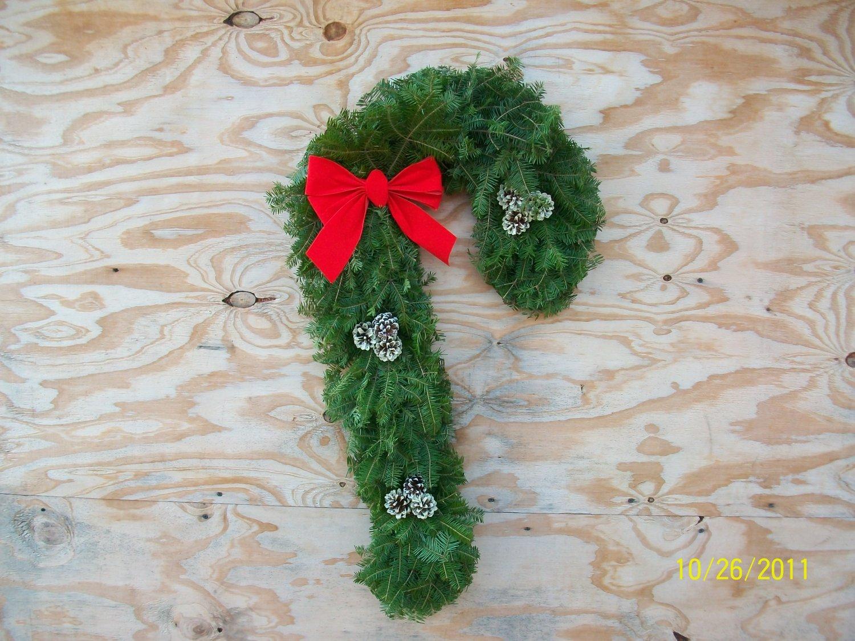 candy cane balsam wreath