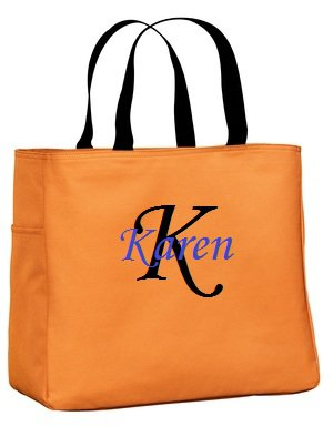 Custom Tote Monogrammed / Embroidered Bridesmaid Gift Weeding Cheer Dance Teacher Baby Bag
