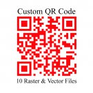 Custom Color QR code in 10 Raster + Vector file types for all your Marketing needs 24hrs Delivery