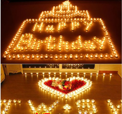 25Pcs Creative Aluminum Candle For Birthday Wedding party